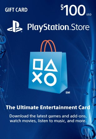 Cartão PSN $100 PlayStation Store Gift Card PS3/ PS4/ PS Vita