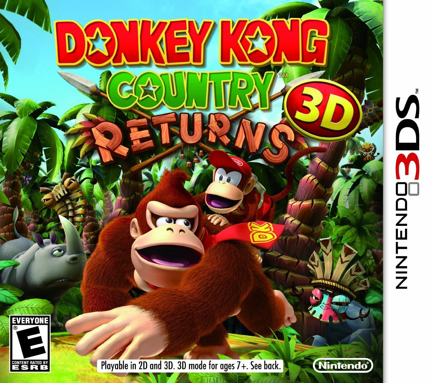 3DS - Donkey Kong Country Returns 3D US