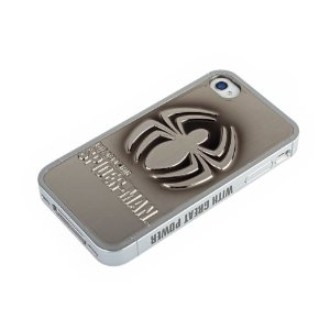 Case iPhone 4/4S Spider Man SILVER-BLACK METALLIC
