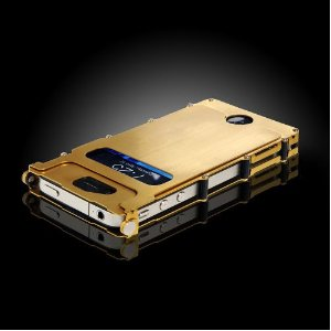 Brushed Stainless Steel Hard Case Gold iPhone 4/4S