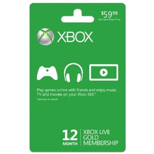Xbox LIVE 12 Month Gold Membership USA