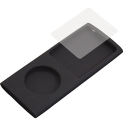Case de silicone Black para iPod nano 4th