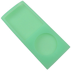 Case de silicone Green para iPod nano 4th