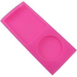 Case de silicone Pink para iPod nano 4th