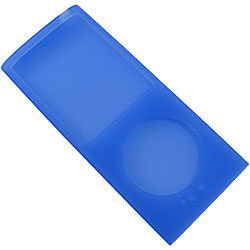 Case de silicone Blue para iPod nano 4th