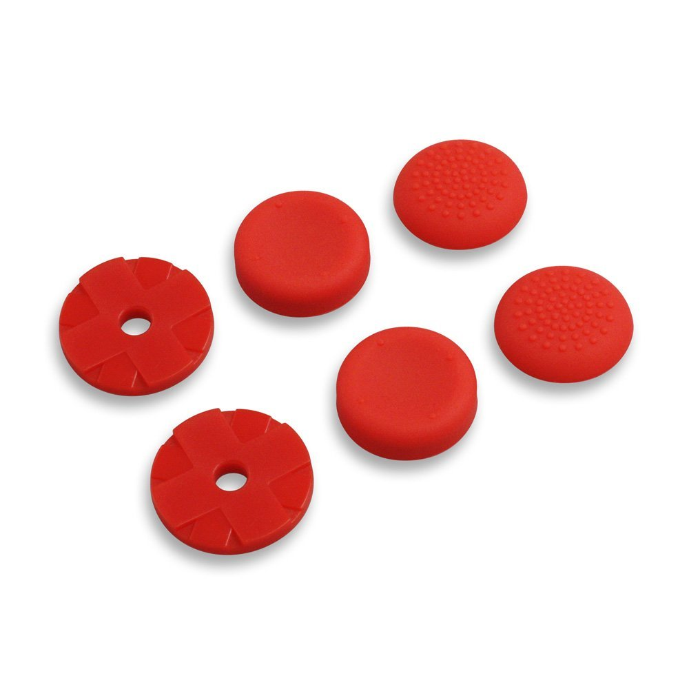 Analog Thumb Grips for Playstation 4 RED
