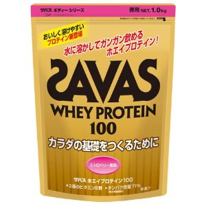 SAVAS Whey Protein 100 Strawberry flavor - 1.0kg