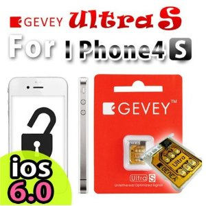 Chip GEVEY Turbo SIM Desbloqueador p/ iPhone 4/4S iOS 6.0/5.1.1