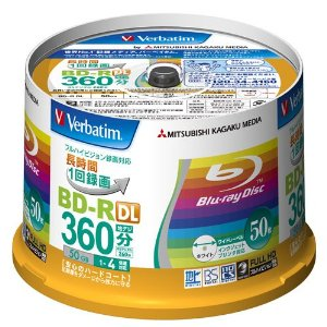 Verbatim Blu-ray Disc 50 Spindle - 50GB 4X BD-R DL