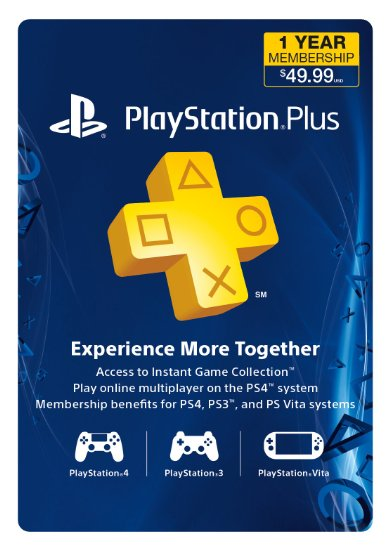 Cartão 1 Ano PlayStation Plus Membership PS3/ PS4/ PS Vita