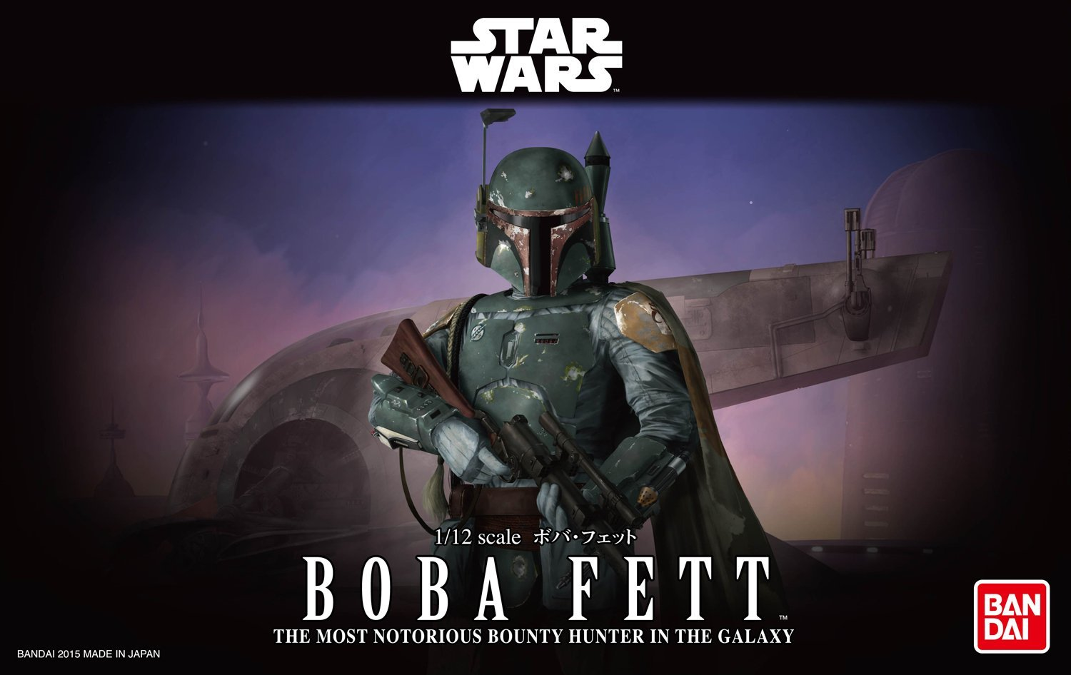 Bandai Star Wars Boba Fett 1/12 Plastic Model