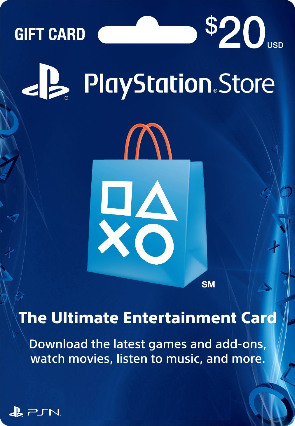 Cartão PSN $20 PlayStation Store Gift Card PS3/ PS4/ PS Vita