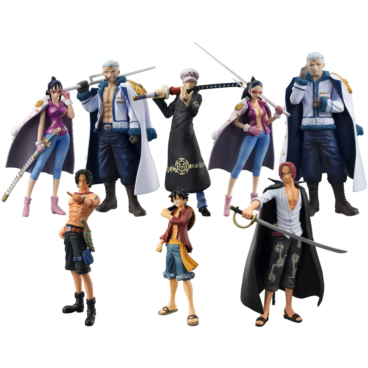BOX ONE PIECE Law's ambition (Cho Zoukei Damashii) 8pcs