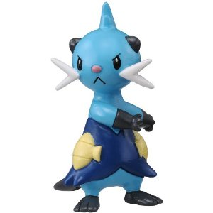 Pokemon Black and White Figure - M-017 - Dewott / Futachimaru
