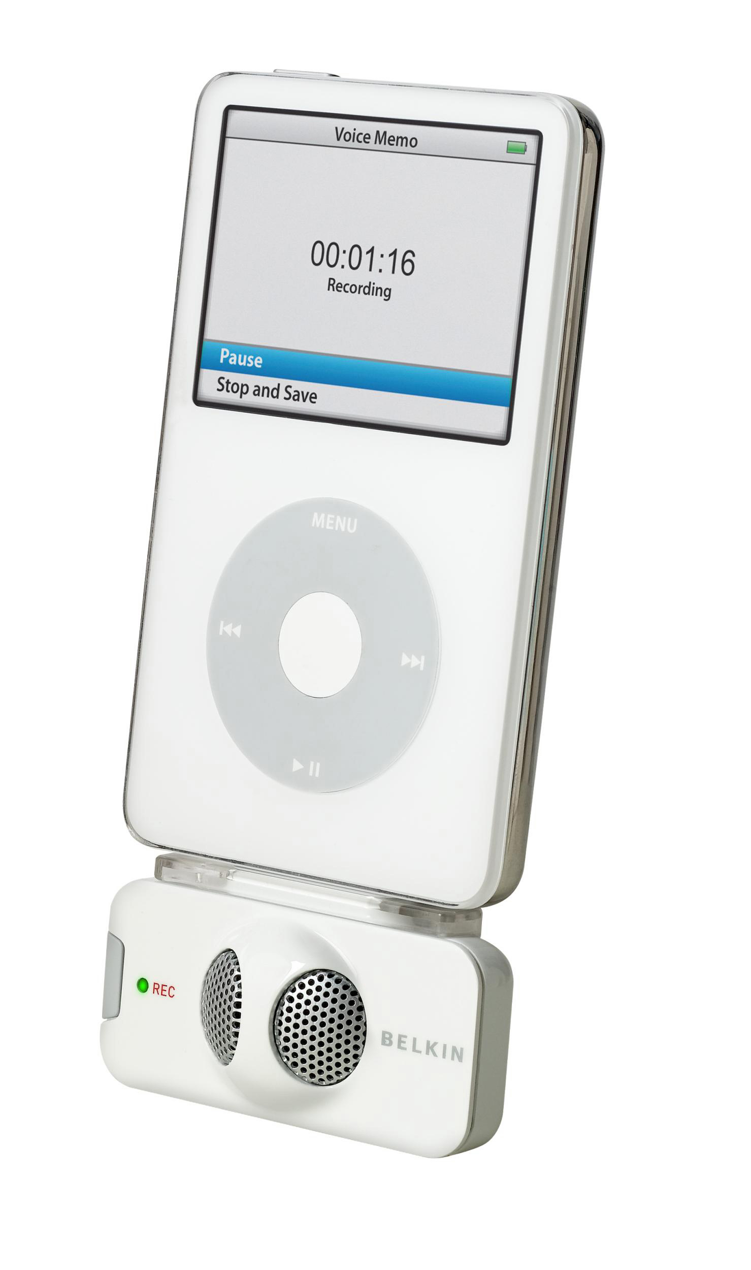 Gravador de Voz - TuneTalk™ Stereo for iPod® Video Branco