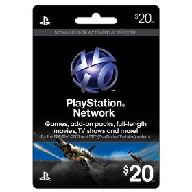 Sony Cartao PSN Playstation Network Card - $20