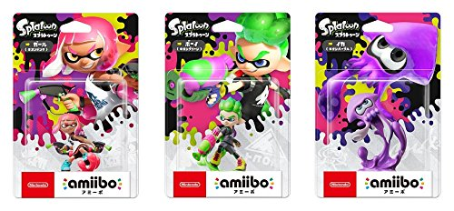 3x Amiibo Splatoon 2 New Inkling Boy Girl Inkling