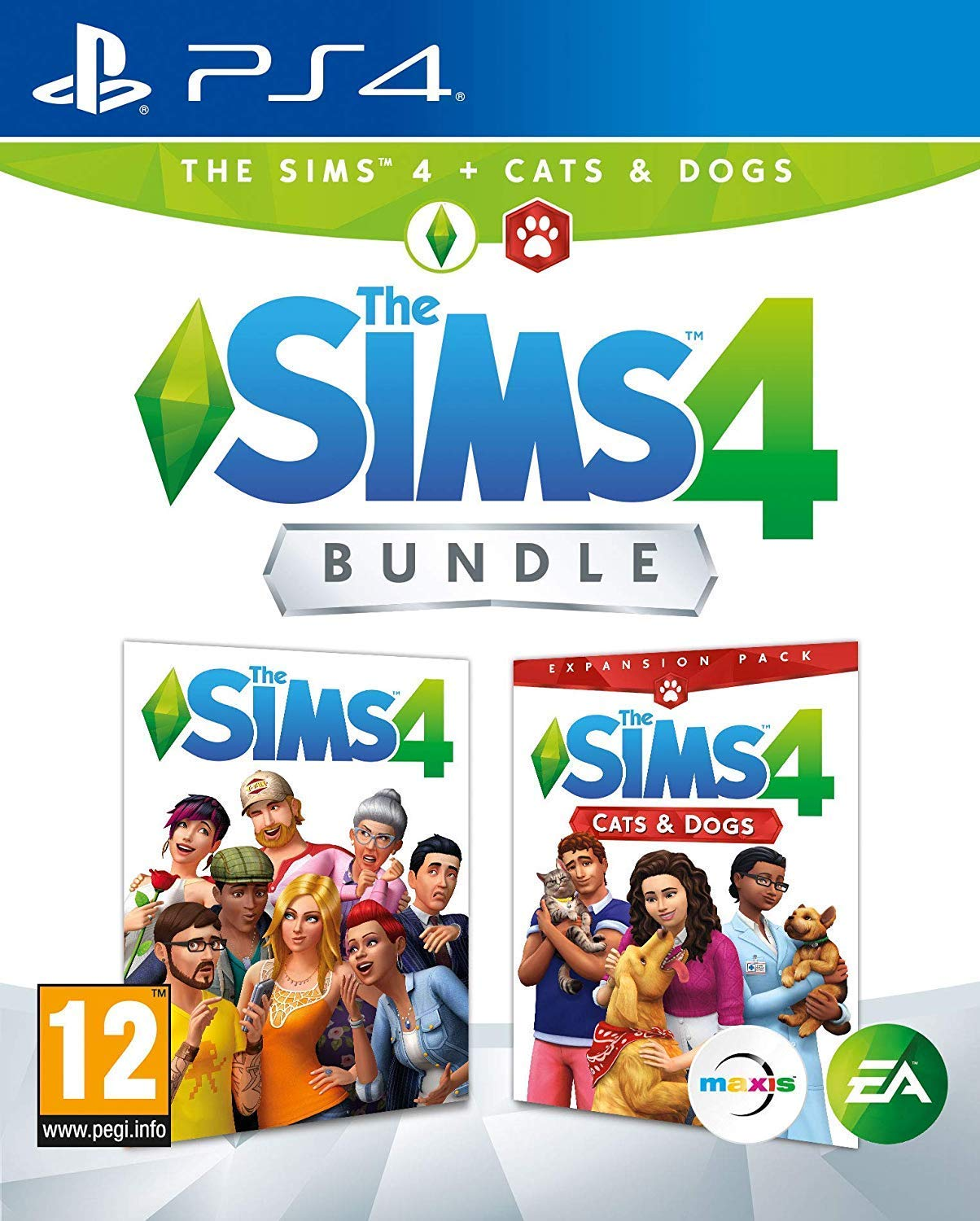PS4 The Sims 4 Plus Cats and Dogs Bundle (PlayStation 4)