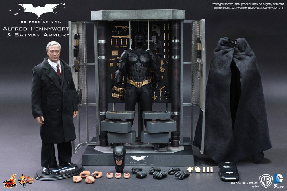 Hot Toys 1/6 Batman Armory, Alfred & Bruce