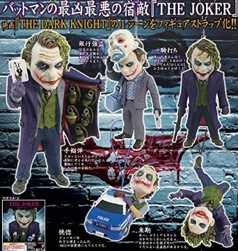 Gashapon Batman Dark Knight RISE THE JOKER 5 unidades