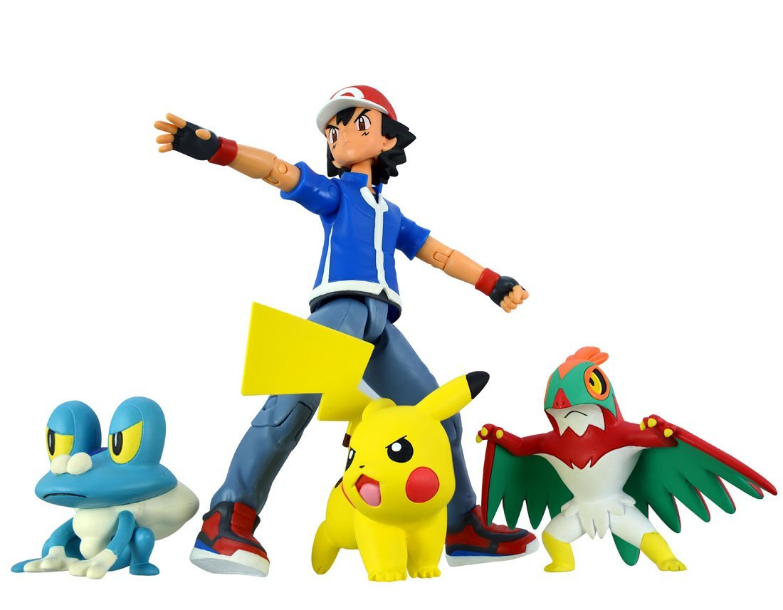 Pokemon Monster Collection Ash Ketchum & Pokemon Set Battle