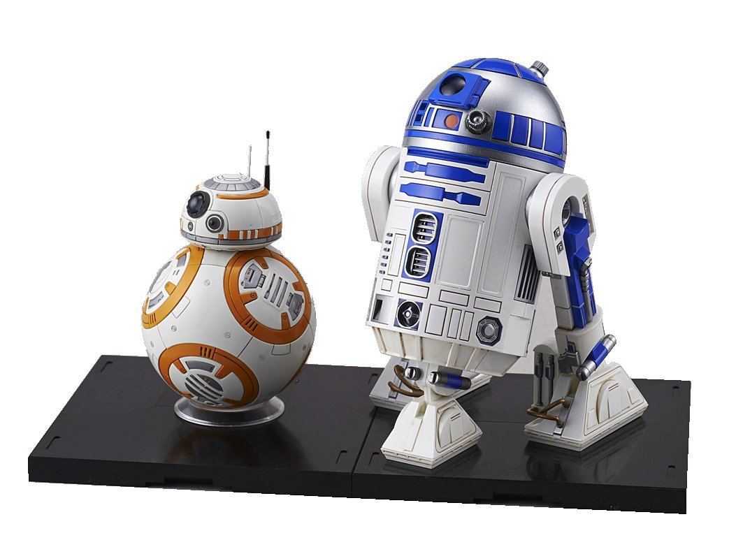Bandai Star Wars BB-8 & R2-D2 1/12 scale Plastic Model