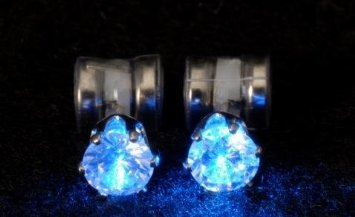 Brinco Original Night Ice LED Earrings (Blue)