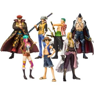 Box com 7 Miniaturas One Piece Soul of Hyper Figuration