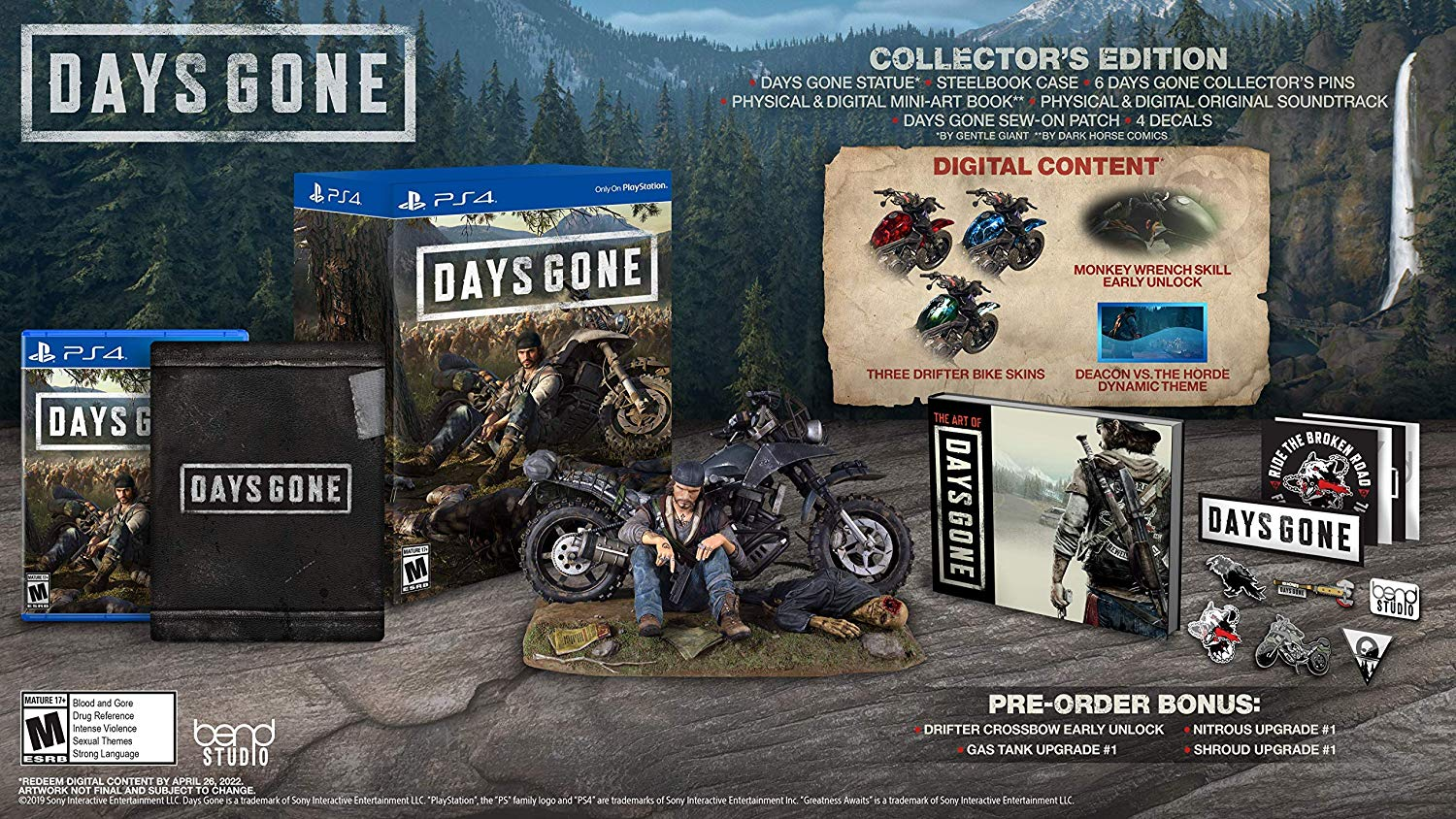 PS4 Days Gone Collectors Edition (PlayStation 4)