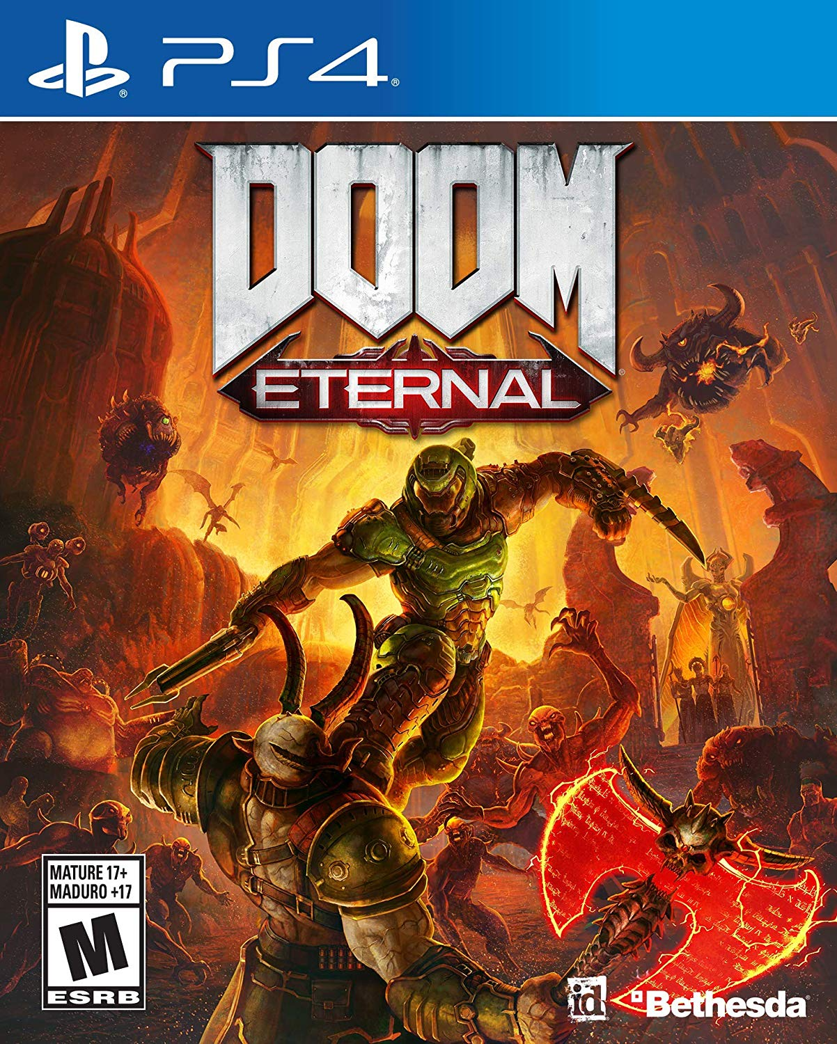 PS4 Doom Eternal em Portugues e Espanol (PlayStation 4)