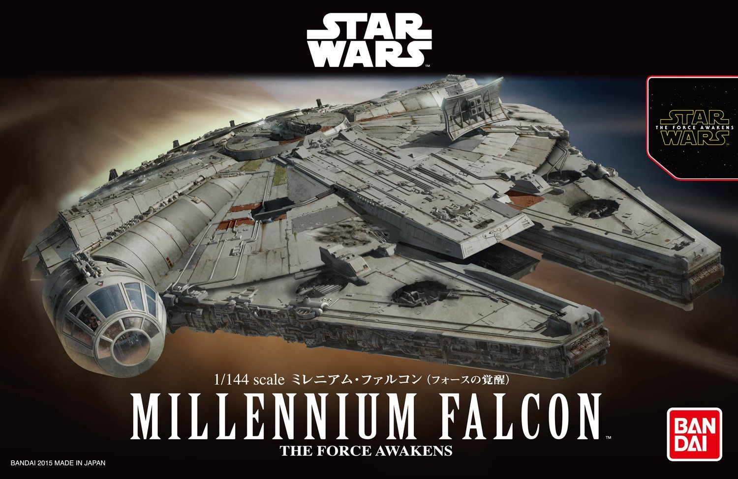 Bandai Star Wars Millennium Falcon 1/144 Plastic Model