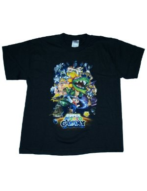 Nintendo Camiseta Mario - Galaxy Group Shot