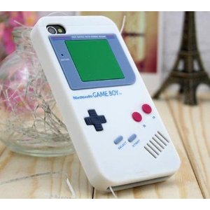Silicone Gameboy Case for iPhone 4 White