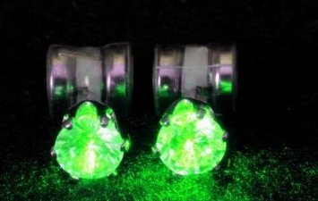 Brinco Original Night Ice LED Earrings (Green)
