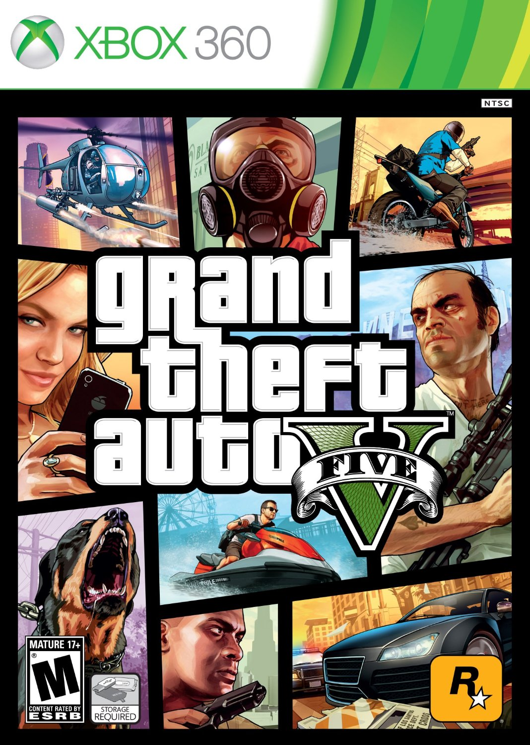 XBox 360 - GTA 5 Grand Theft Auto V US Regiao Livre