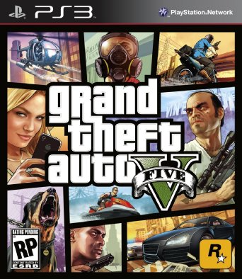 GTA 5 Grand Theft Auto V em Português PS3 US