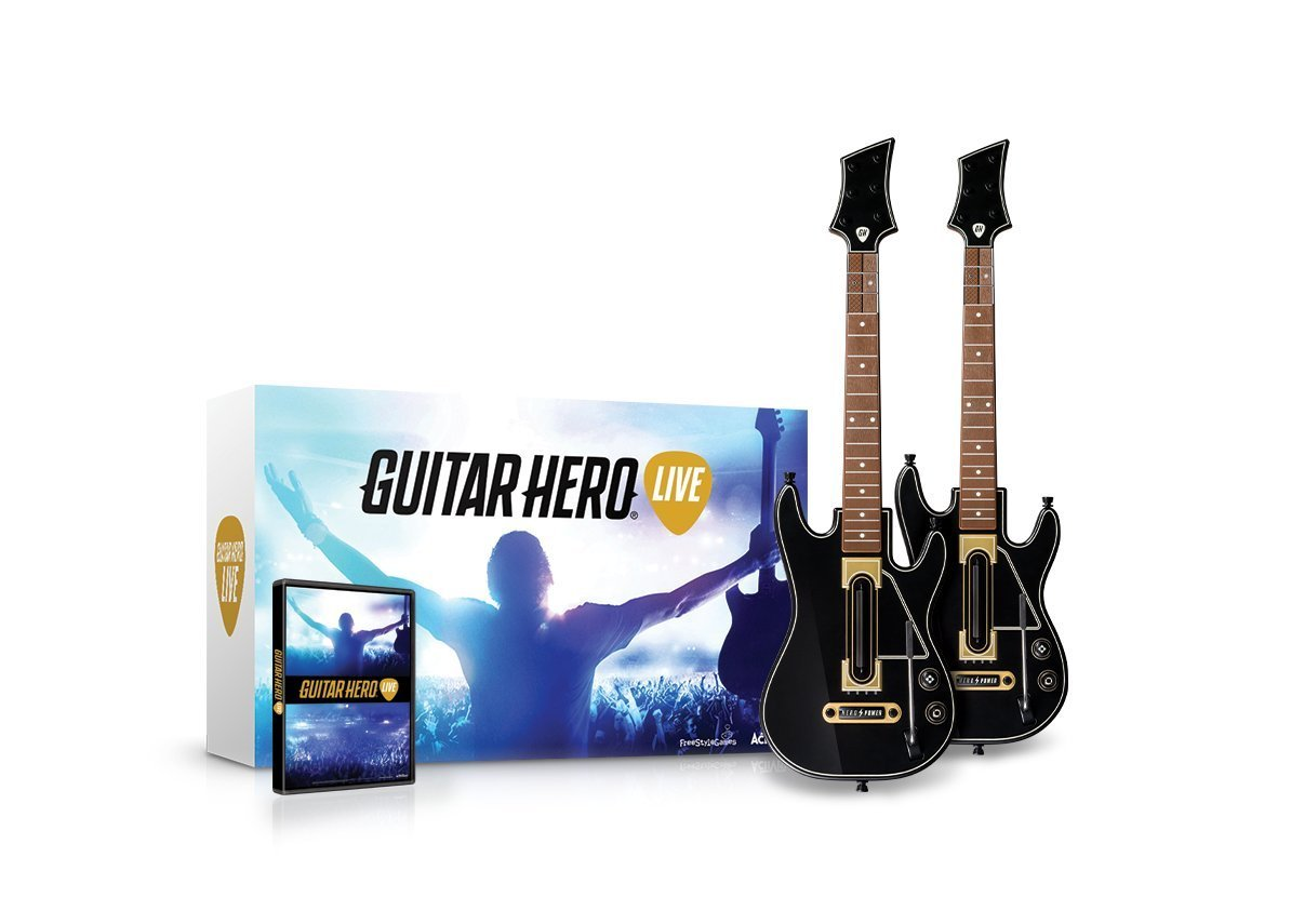 PS4 Guitar Hero Live 2 Pack Bundle Two Guitar (PlayStation 4)
