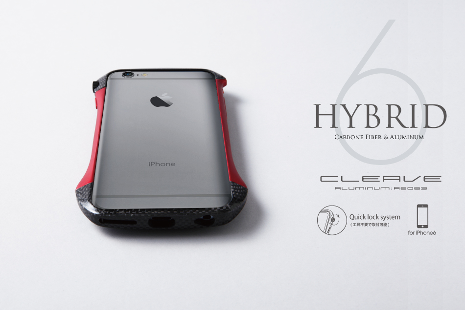CLEAVE Hybrid Bumper Fibra de Carbono e Aluminio for iPhone 6 RD