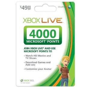Xbox 360 Live Points Card - 4000 Points US