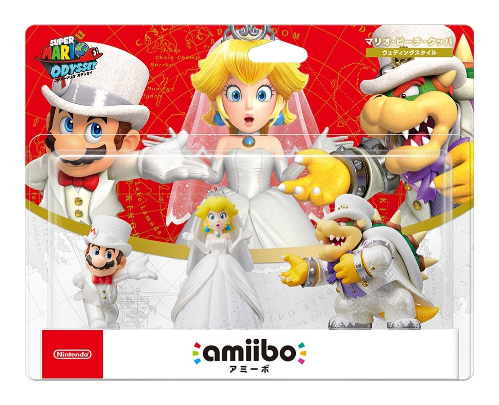 Amiibo Odyssey Mario Peach Bowser Wedding 3 units