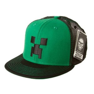 Minecraft Creeper Face Snap Back Hat