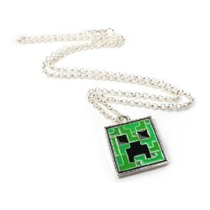 Corrente Minecraft Creeper Pendant Necklace