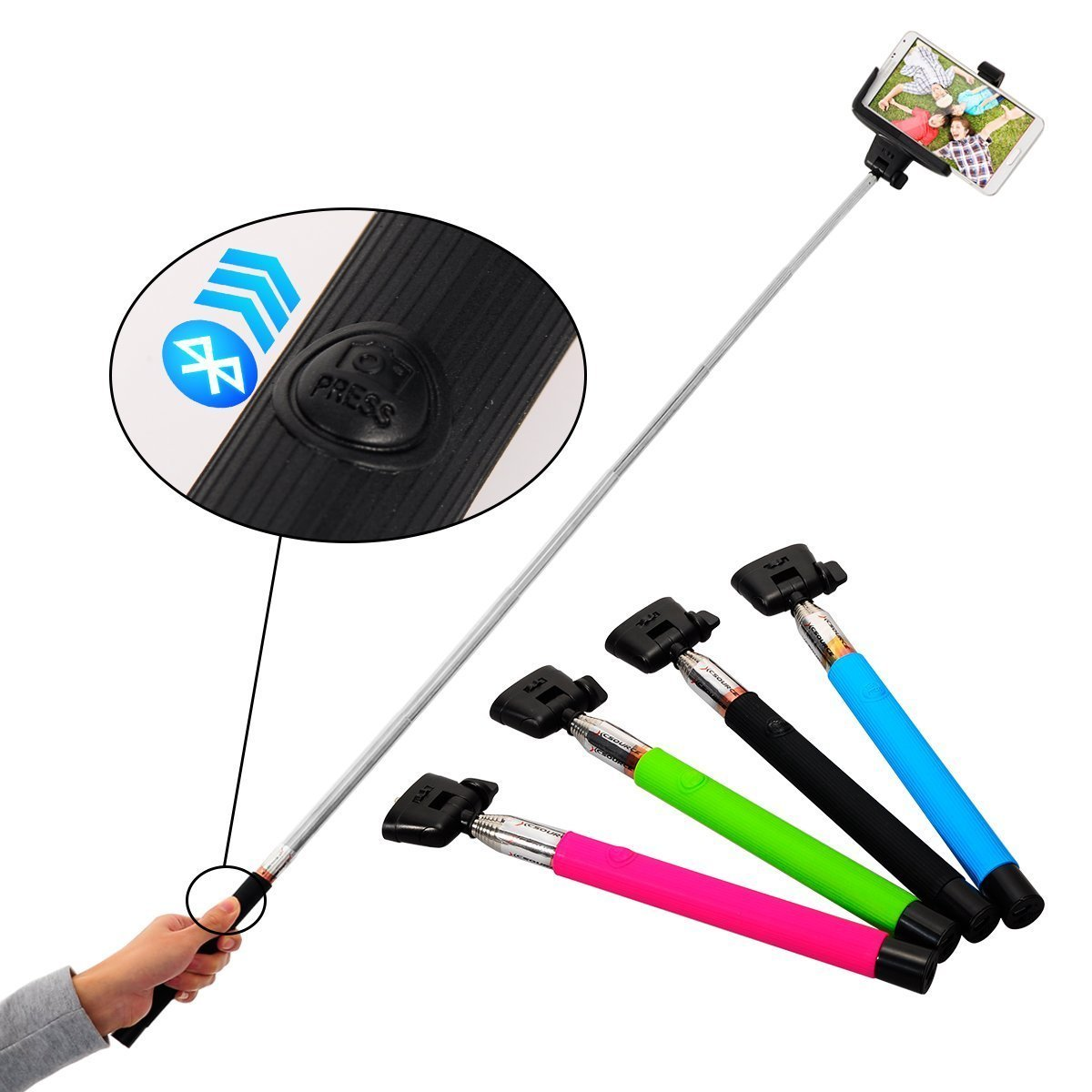 Selfie stick Pau de selfie Wireless Bluetooth Remote Camera