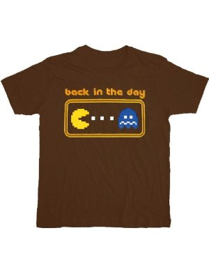 Pac-Man Back in the Day Brown T-Shirt