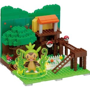 Nanoblock Pokemon PP-002 Chespin Tree House