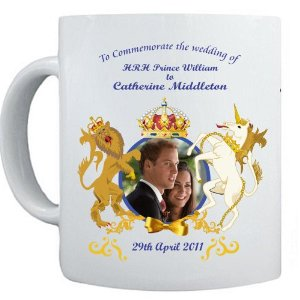 Caneca Prince William and Kate Middleton Ceramic Mug