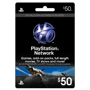 Sony Cartao PSN Playstation Network Card - $50