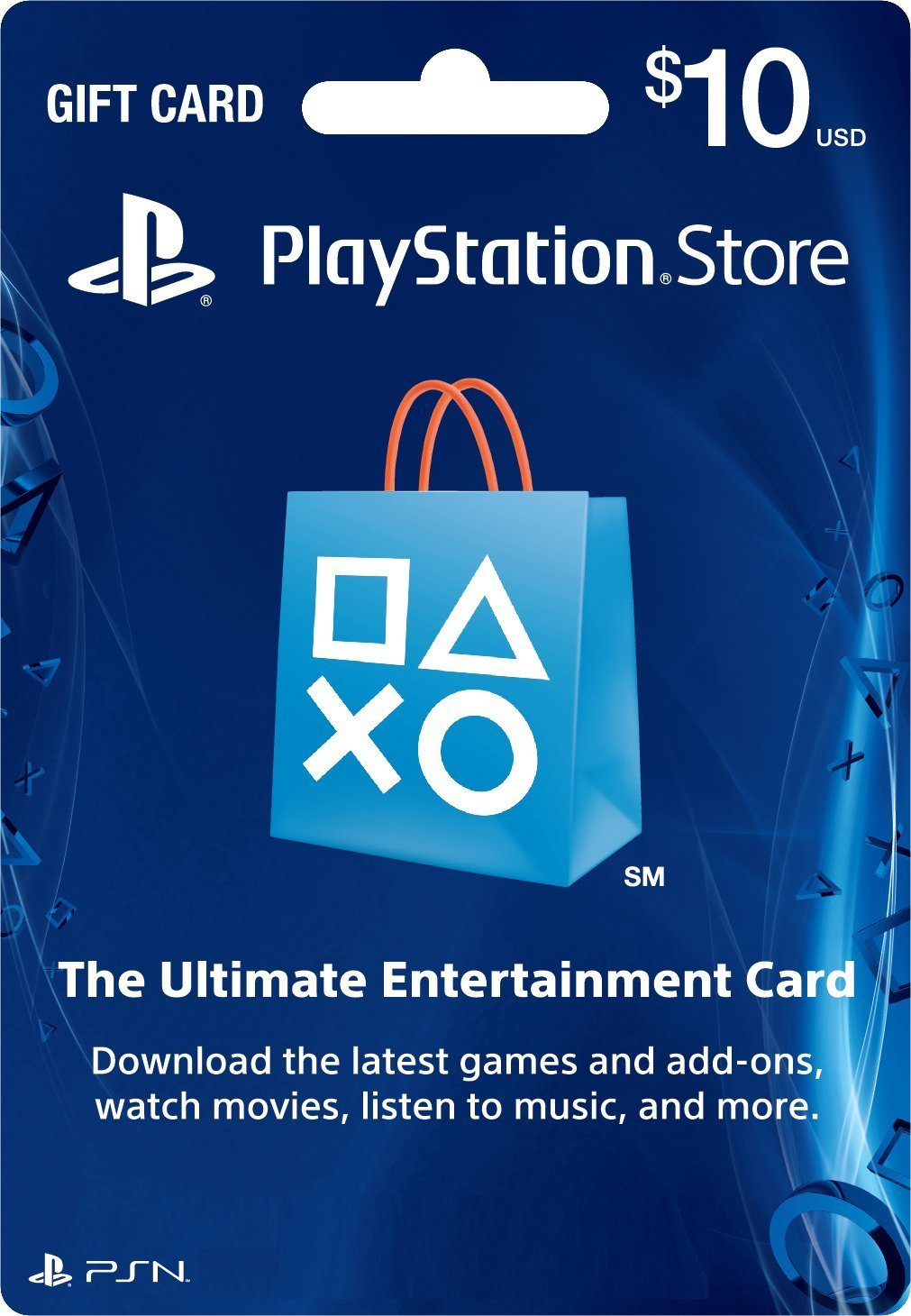 Cartão PSN $10 PlayStation Store Gift Card PS3/ PS4/ PS Vita