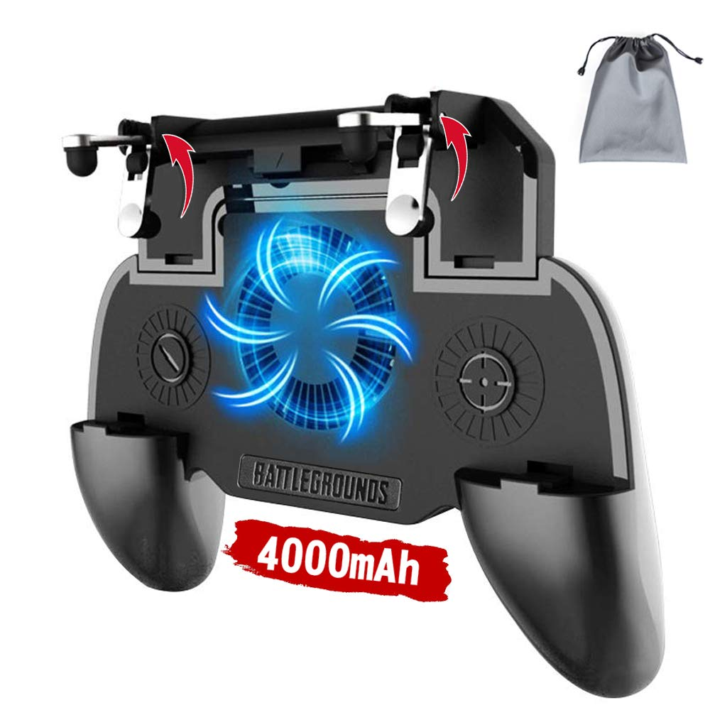 Mobile Game Controller Gamepad Cooler 3 em 1 4000mAh
