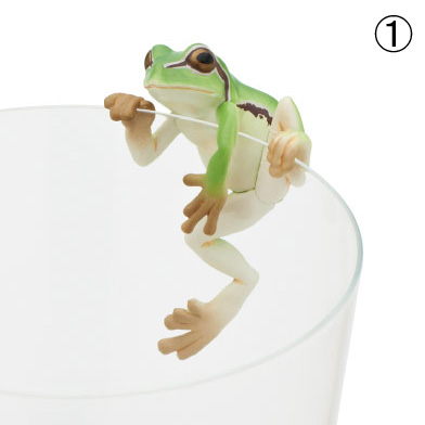 Gashapon Putitto Tree Frog mini Petit Conjunto de 8 units